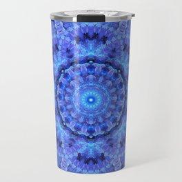 Azure Harmony Mandala Travel Mug