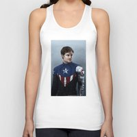 bucky barnes Tank Tops featuring Bucky by E Cairns Art