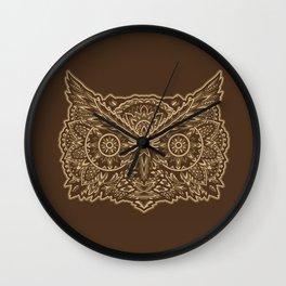 Ornate Owl Wall Clock