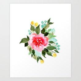 Blushing Bride Art Print