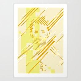 Paranoid Linedroid Art Print