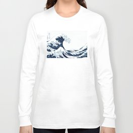The Great Wave - Halftone Long Sleeve T-shirt