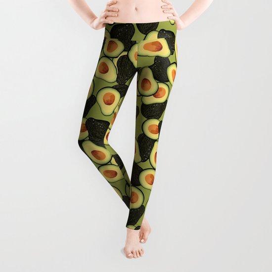Avocado Pattern Leggings