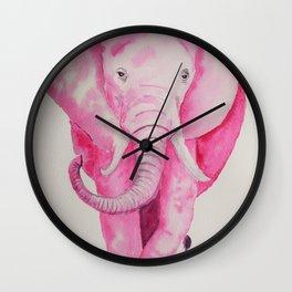 Fuchsia Elephant Wall Clock