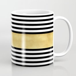 Zebra pattern with golden stripe Coffee Mug