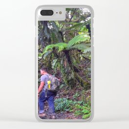 Jose hiking up El Yunque trails -  El Yunque rainforest in PR Clear iPhone Case