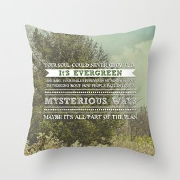 Evergreen Throw Pillow