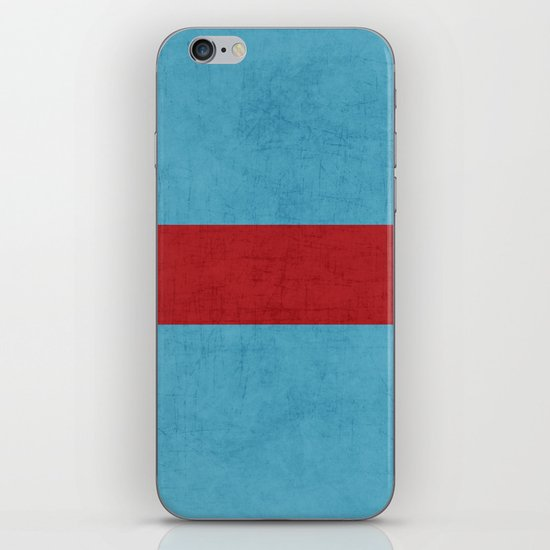 folk blue and red classic iPhone & iPod Skin
