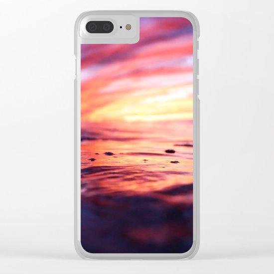 Miniature Sunset Beach Clear iPhone Case