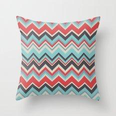 Aztec chevron pattern- grey Throw Pillow