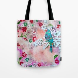Little bird on branch Tote Bag