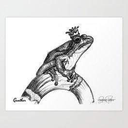 GUNTHER Frog Prince Print Art Print