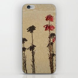 Shadows and flowers iPhone Skin