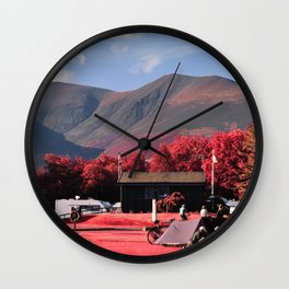Red Mountains Wall Clock
