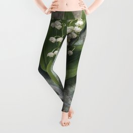 Beautiful Lily Of The Valley Leggings
