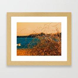 GrassyWaves Framed Art Print