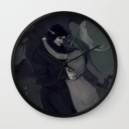 Dark Elven Moon Wall Clock