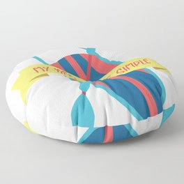 Paddleboarding I My Needs Are Simple I Summer Design Gift print Floor Pillow