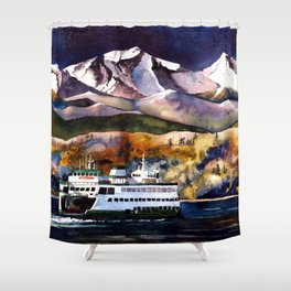 NW Ferry Boat Shower Curtain