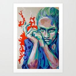 Eline Challenge by carographic, Carolyn Mielke Painting Art Print