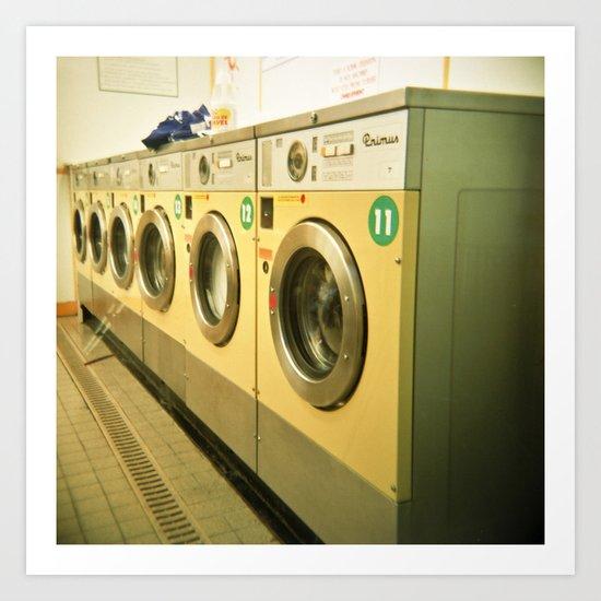 Laundromat Art Print