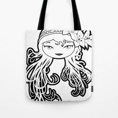 Lybee Black & White Tote Bag