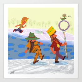 To the Bubble Well!  Art Print