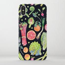 Spring Harvest Pattern Dark iPhone Case