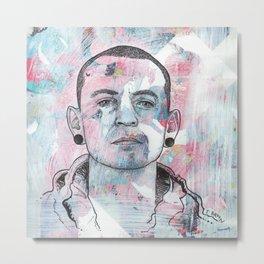 Chester Bennington - Nobody Can Save Me Metal Print