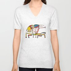 Ballerina riding Unisex V-Neck