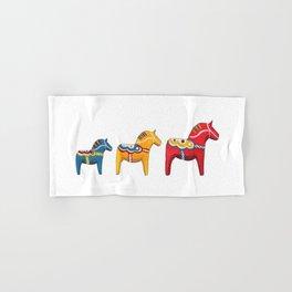 Dala horses Hand & Bath Towel