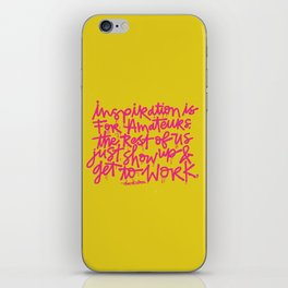 Inspiration is for amateurs x typography iPhone Skin