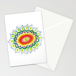 Watercolor Sunflower Mandala Stationery Cards