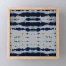 Shibori Strips Framed Mini Art Print