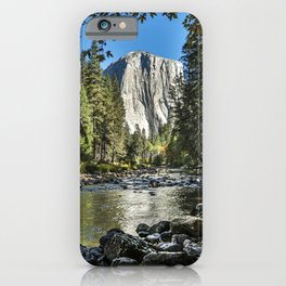 Yosemite Fall Color And Merced River 10-20-18   iPhone Case