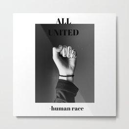 All united Metal Print