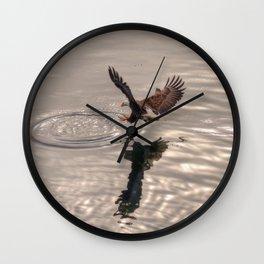 Hunting Eagle Wall Clock