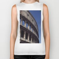 rome Biker Tanks featuring Rome by  Eggplant