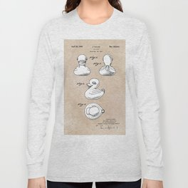 patent art Ganine 1947 toy duck Long Sleeve T-shirt