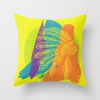 headdress Throw Pillows featuring Headdress  by kpatron