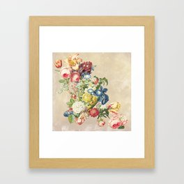 Floral tribute to Louis McNeice (Light) Framed Art Print