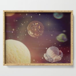 Planets of the ice shapes galaxy Serving Tray