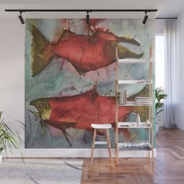 Two Fish Passing Wall Mural