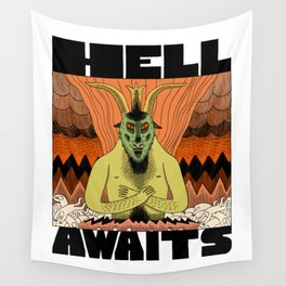 Hell Awaits Wall Tapestry