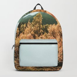 Rustic Autumn Beauty // Golden Yellow and Orange Leaves in the Forest Backpack
