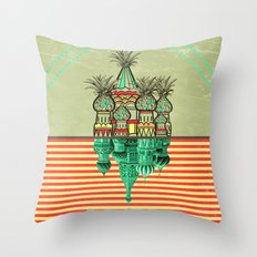 Pineapple architecture  Throw Pillow