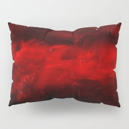 Red And Black Luxury Abstract Gothic Glam Chic by Corbin Henry Pillow Sham