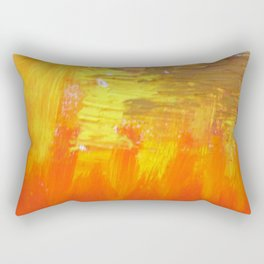 Aflood with gold and rose Rectangular Pillow