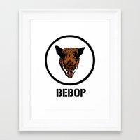 bebop Framed Art Prints featuring Bebop | TMNT by Silvio Ledbetter