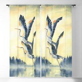 Flight Of Blue Heron  Blackout Curtain